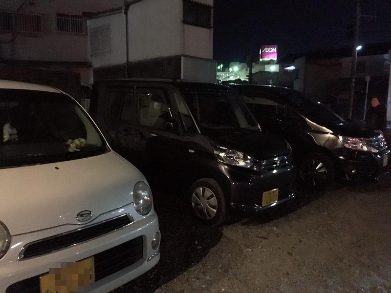 大塚辛麺 駐車場