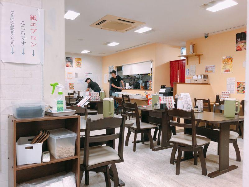 麺屋つつみ加納店の店内