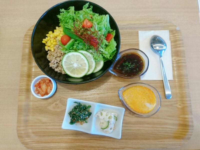 サラダ仕立てのピリ辛豆乳担々麺 ~ピリ辛柚レモンたれ~