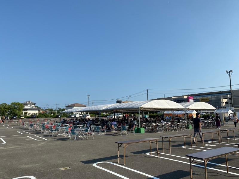 宮崎ぎょうざ祭りinイオンモール宮崎の食事スペース
