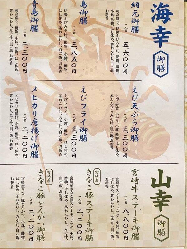 網元メニュー1