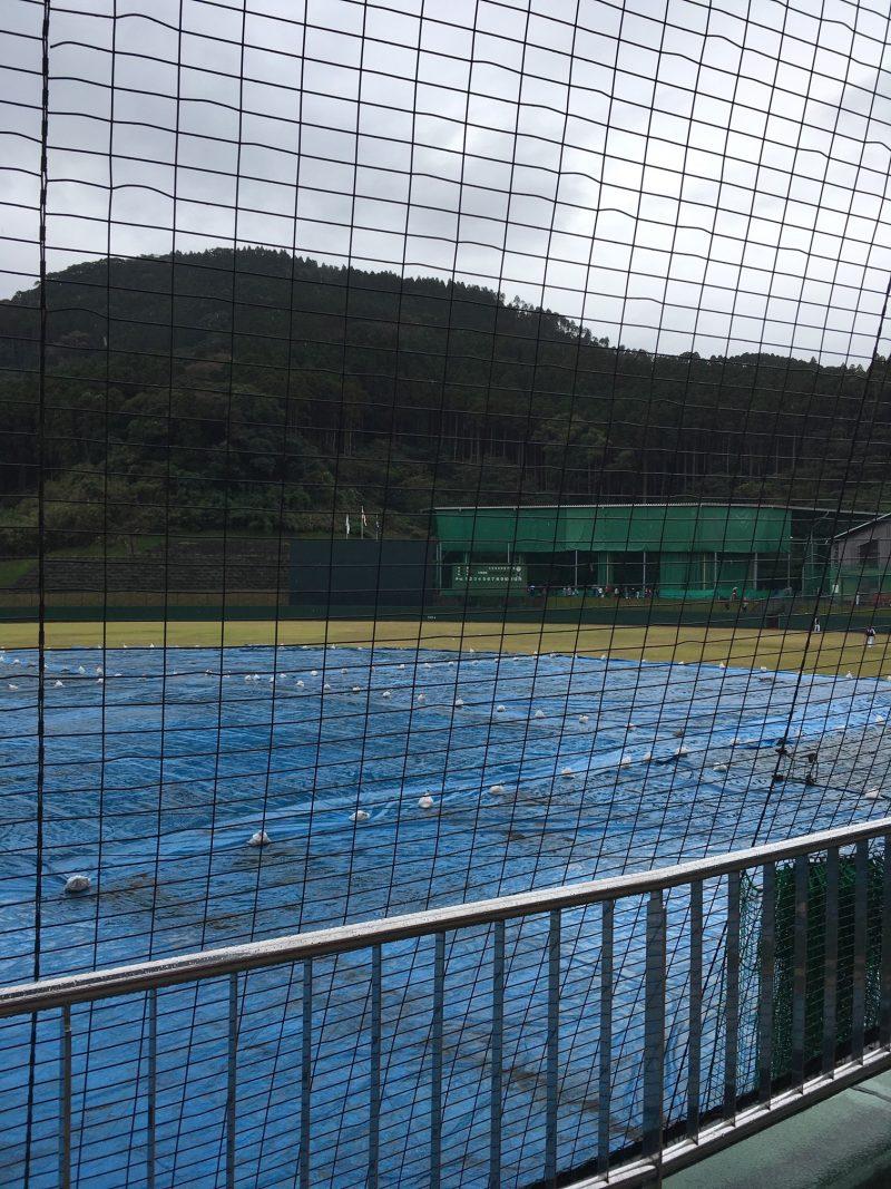 雨の日の天福球場