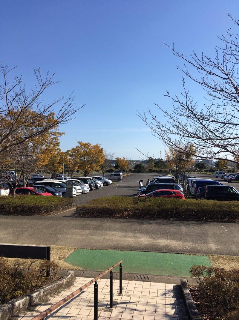 ソフトバンク秋季キャンプの駐車場
