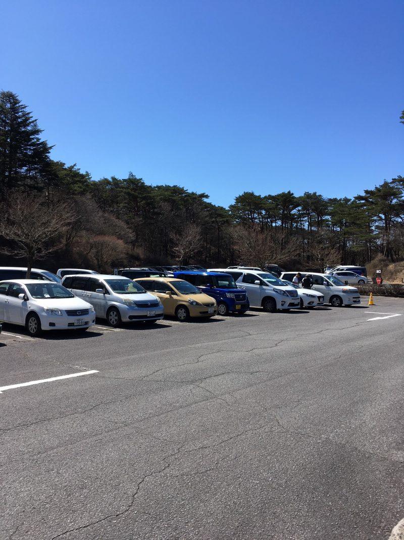 高千穂河原の駐車場