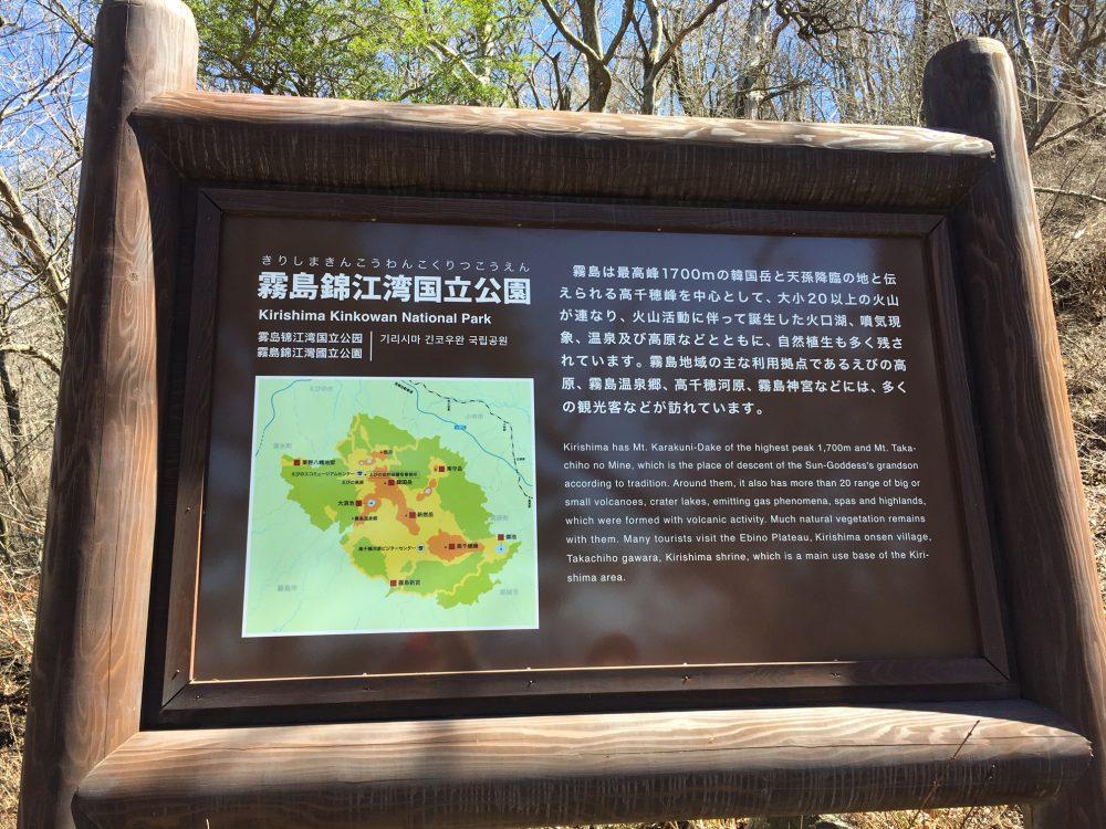 霧島錦江湾国立公園の解説のボード