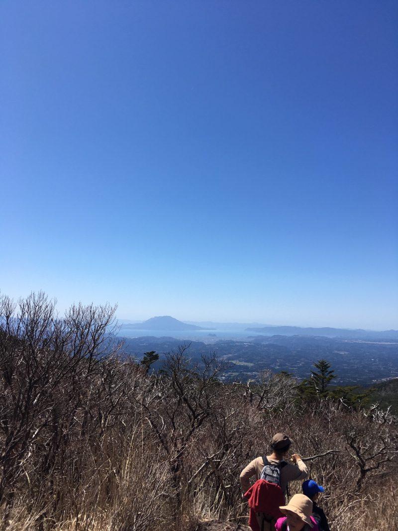 高千穂峰から桜島