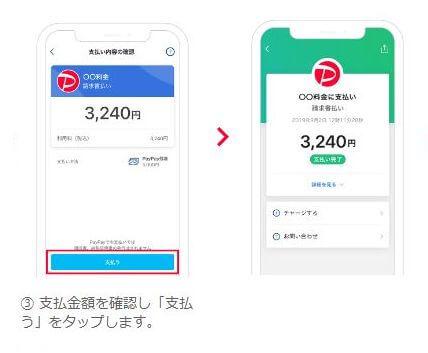 PayPay(ペイペイ)請求書払い方法